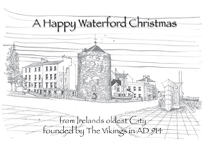 Christmas Card Reginald's Tower Waterford